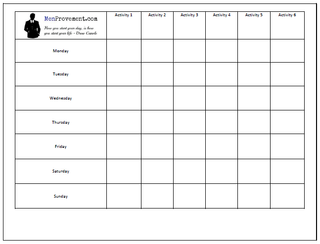 morning routine chart picture