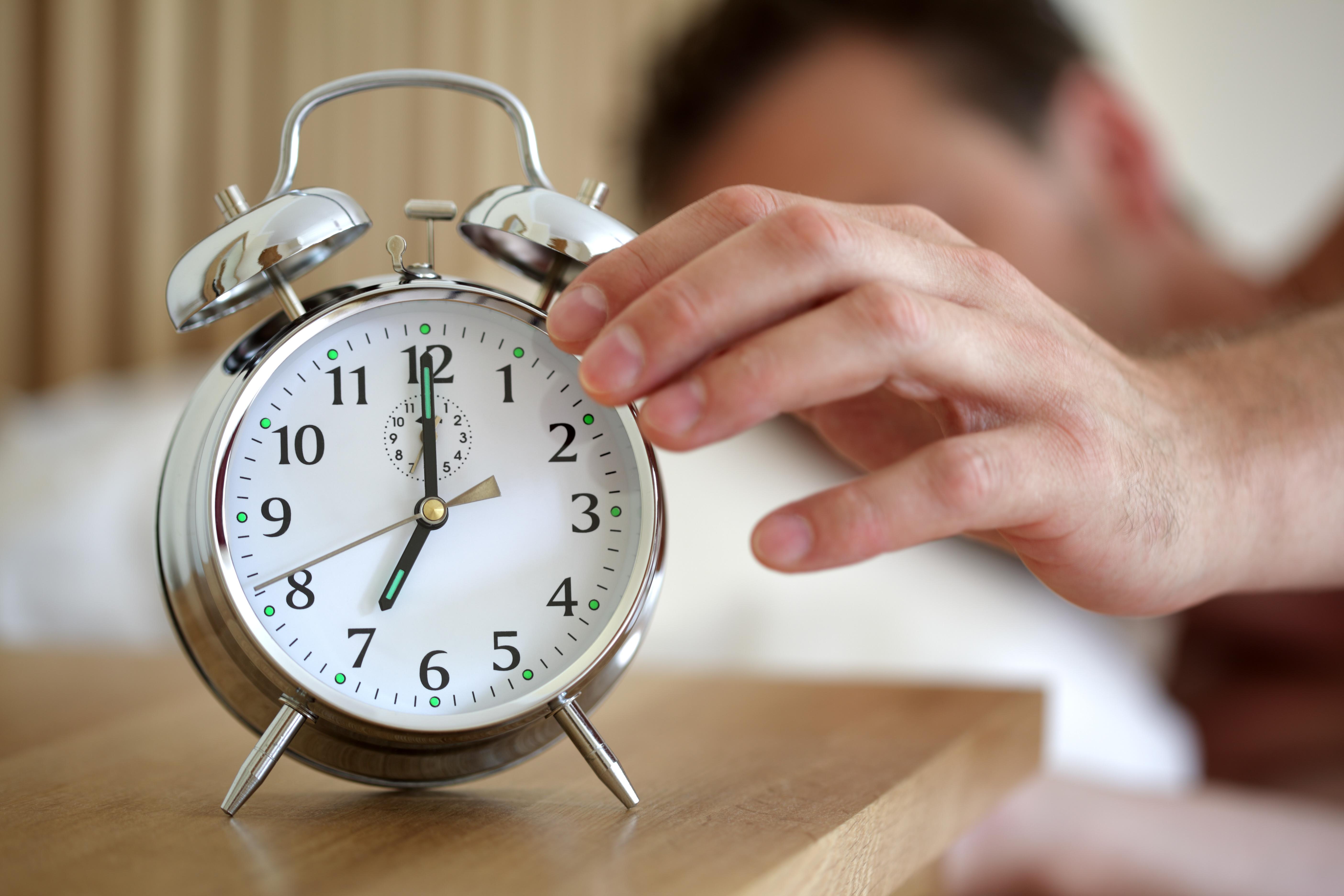Turning off an alarm clock