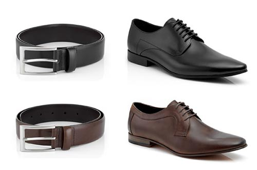 matching shoes and belt