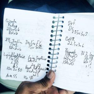 gym notebook