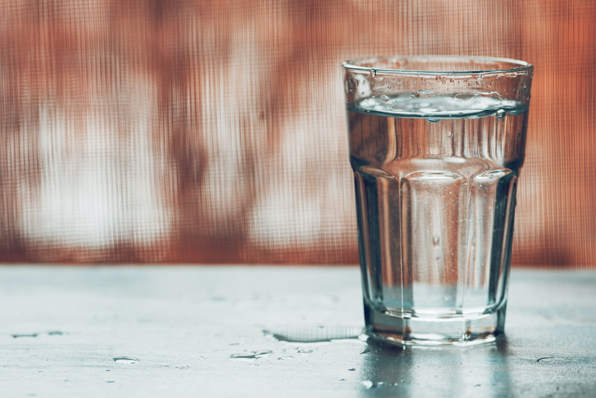 drinking water after waking up