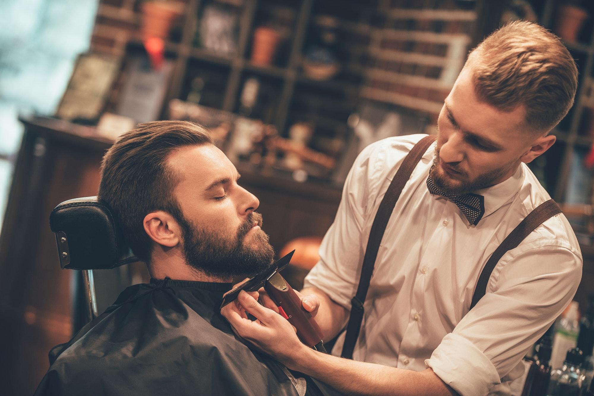 Grooming of real man.